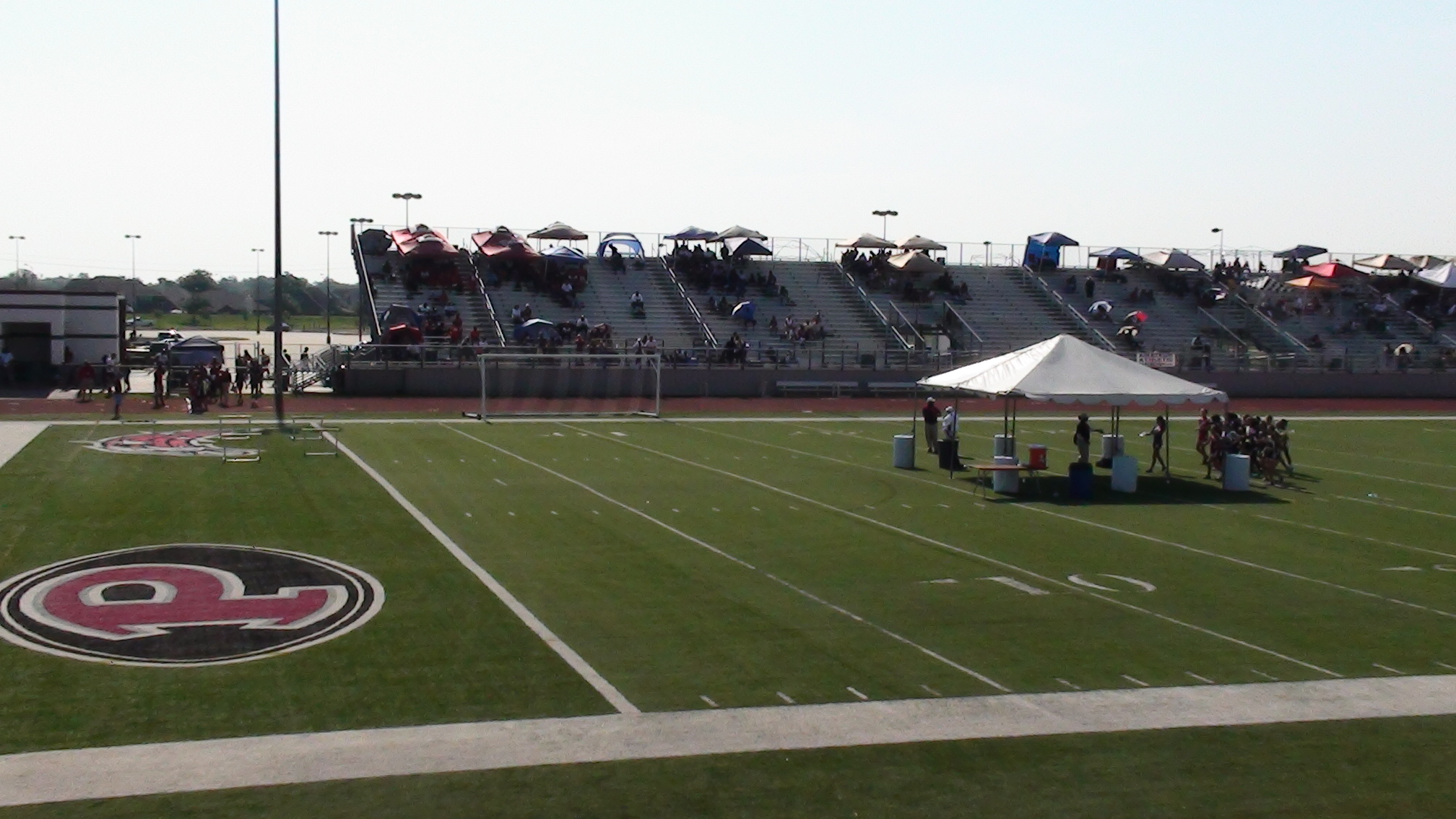 View of the east bleachers at The Rig