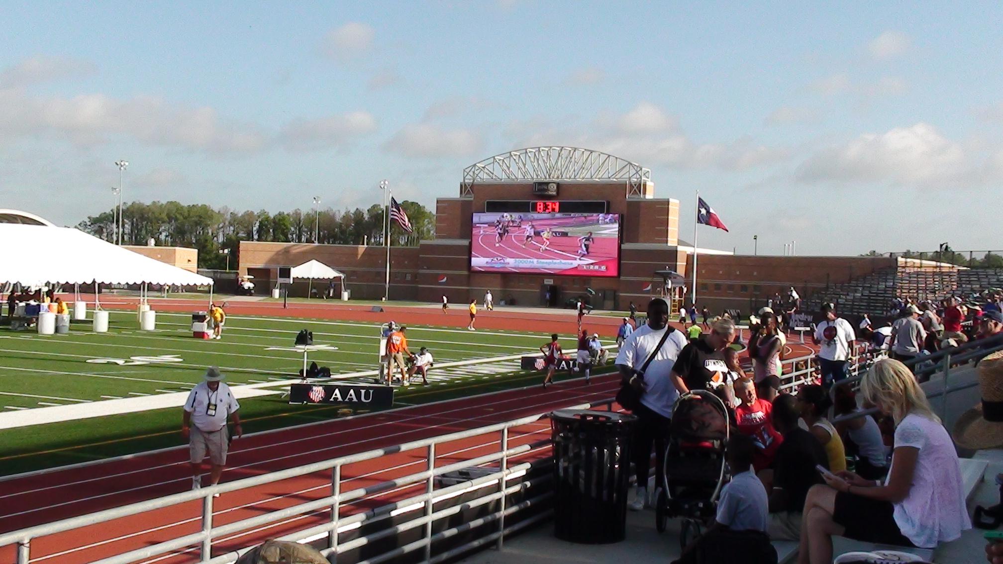 Jumbotron at the north side of Turner Stadium