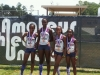 Midget Girls 4x100 relay medalists
