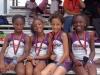 Bantam Girls 4x100 relay champs