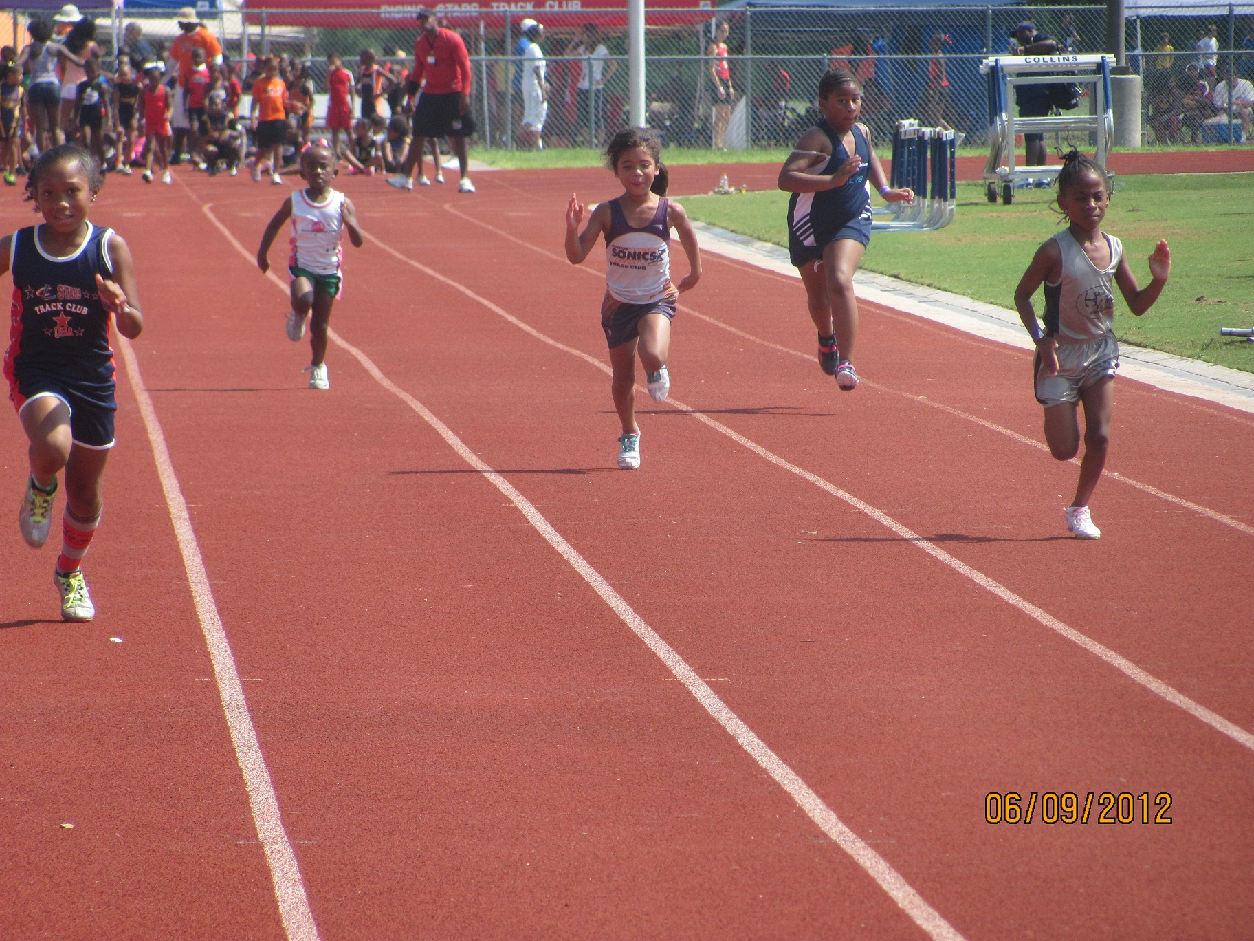 Anyssa Solis in the 100
