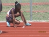 Kaylie preparing for the 4x100