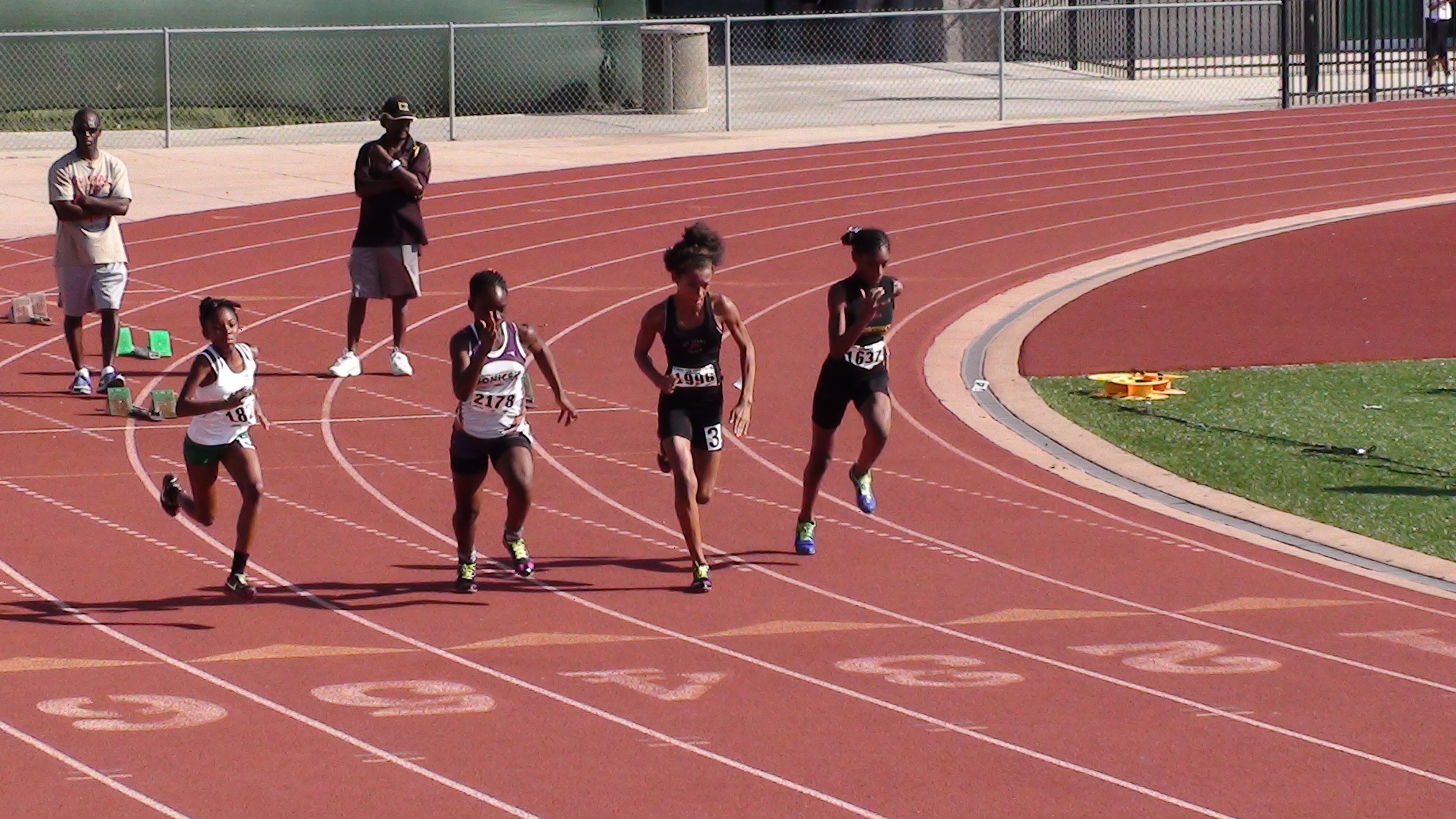 Corriell in the 100m
