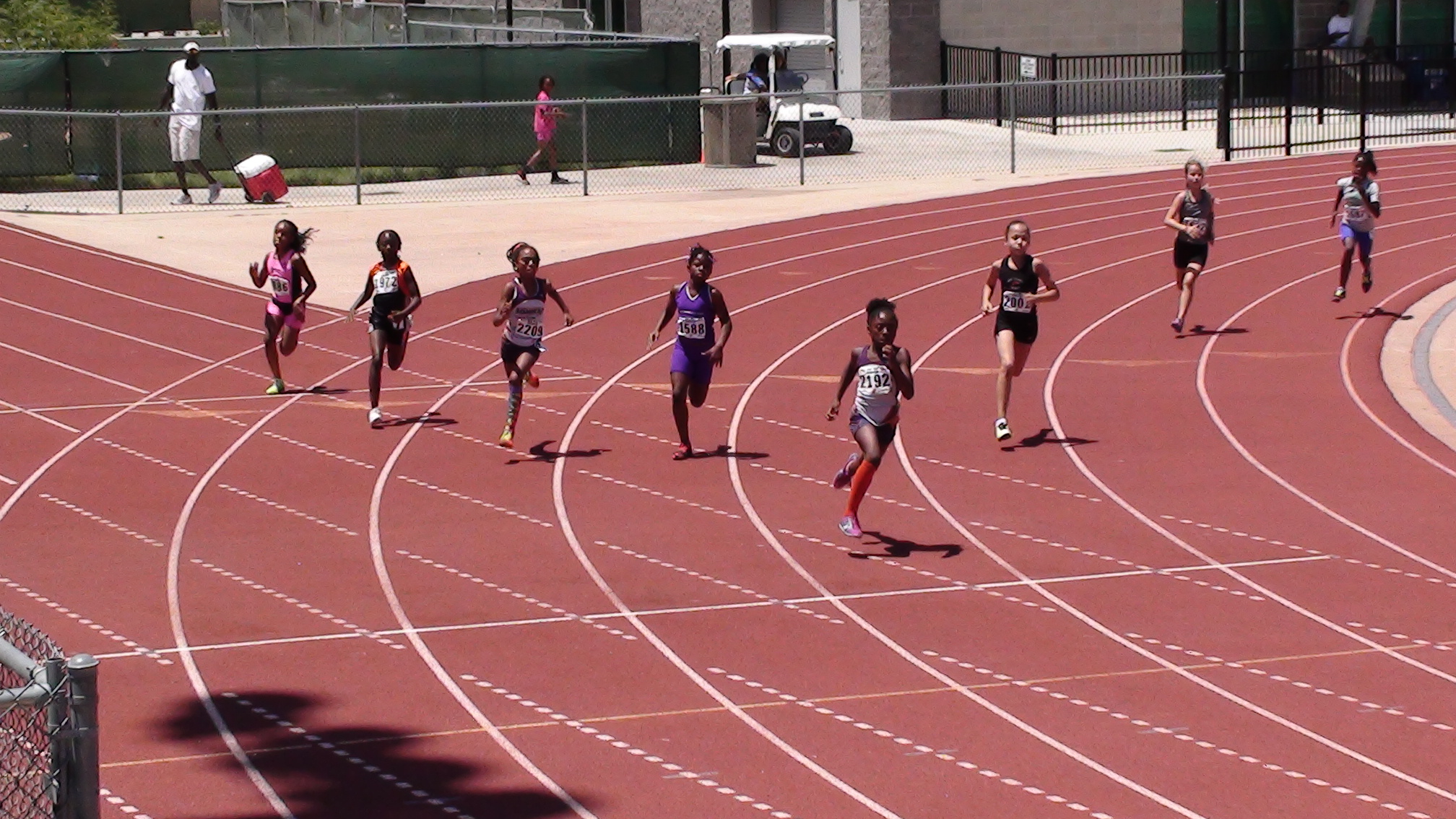 Sonics 9-year old girls in the 200m
