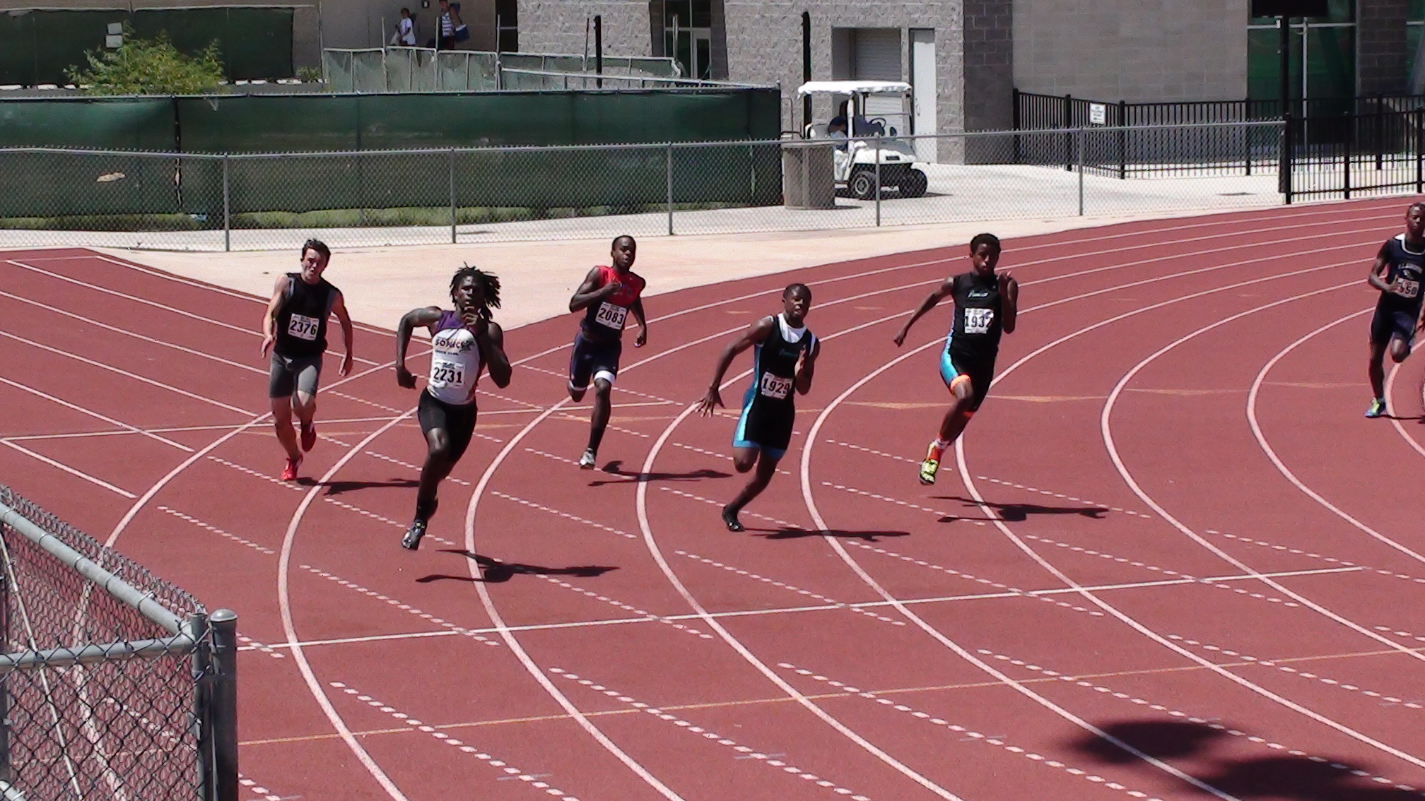 Eric in the 200m