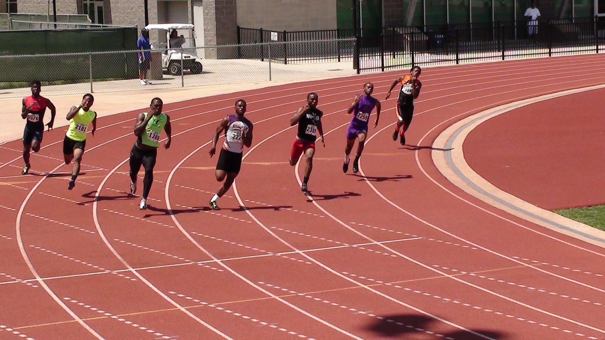 Brandon in the 200m