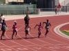 Clarke in the 100m