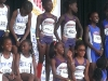 9-10 Girls 4x400 relay on podium