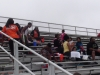 Sonics gathering in the bleachers