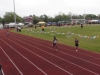 Kaylie running the 200m
