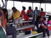 Sonics athletes keeping warm during the first meet of the season