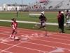 Trinity winning her 200 heat