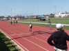 LaDecia racing to the finish in the 200