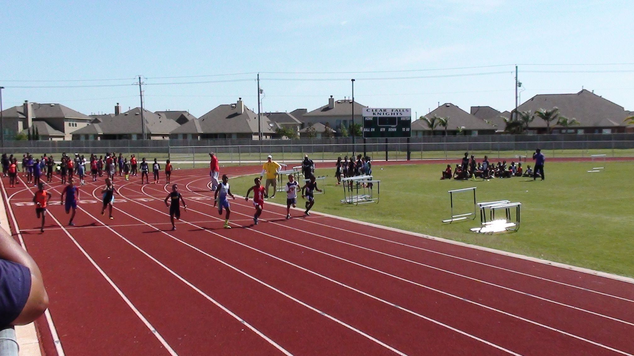 Jerome running the 100m