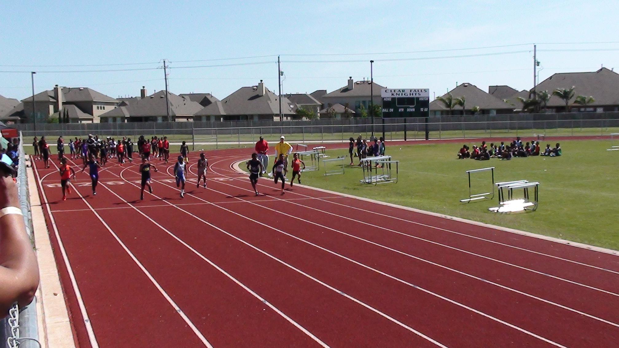 Jonathan running the 100m