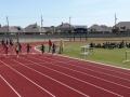 Tyra running the 100m