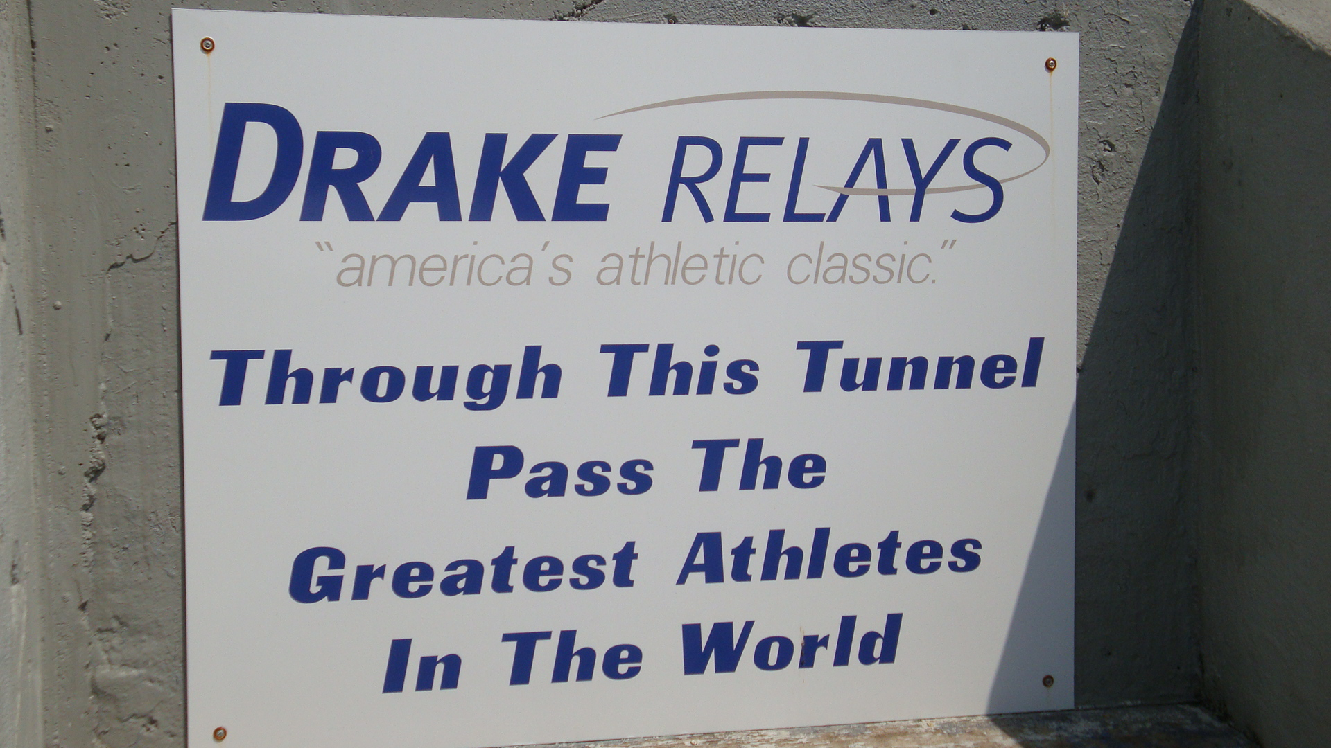 Drake Relays sign