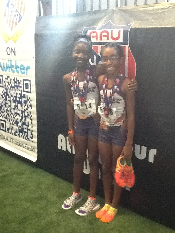 Trinity and Nylah showing off their hardware