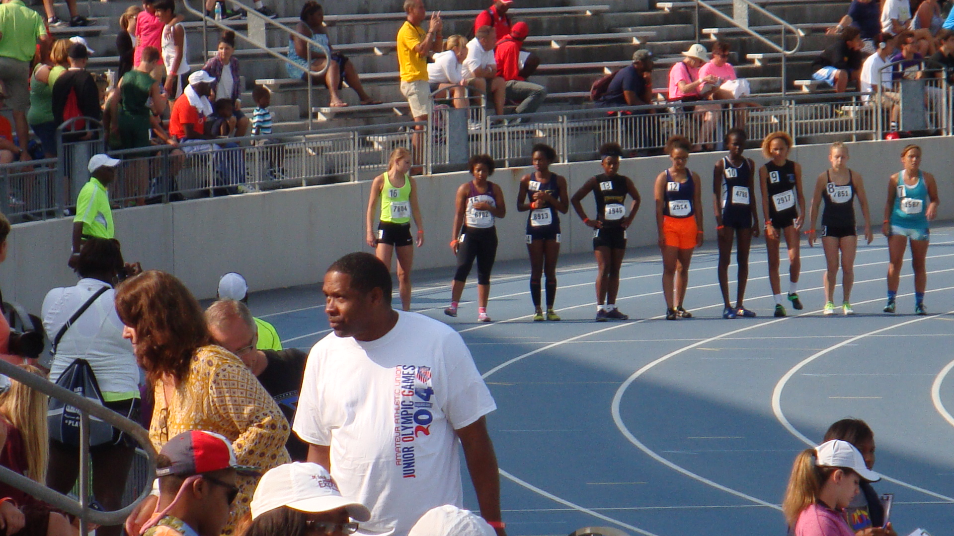 Sarah lined up for the 1500m