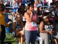 Maurisa awaiting her turn at the shot put