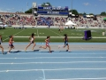 Michelle mid-race in the 1500m