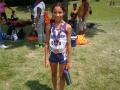 Michelle with her 800m medal