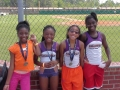 9-10 Girls 4x100 relay champs