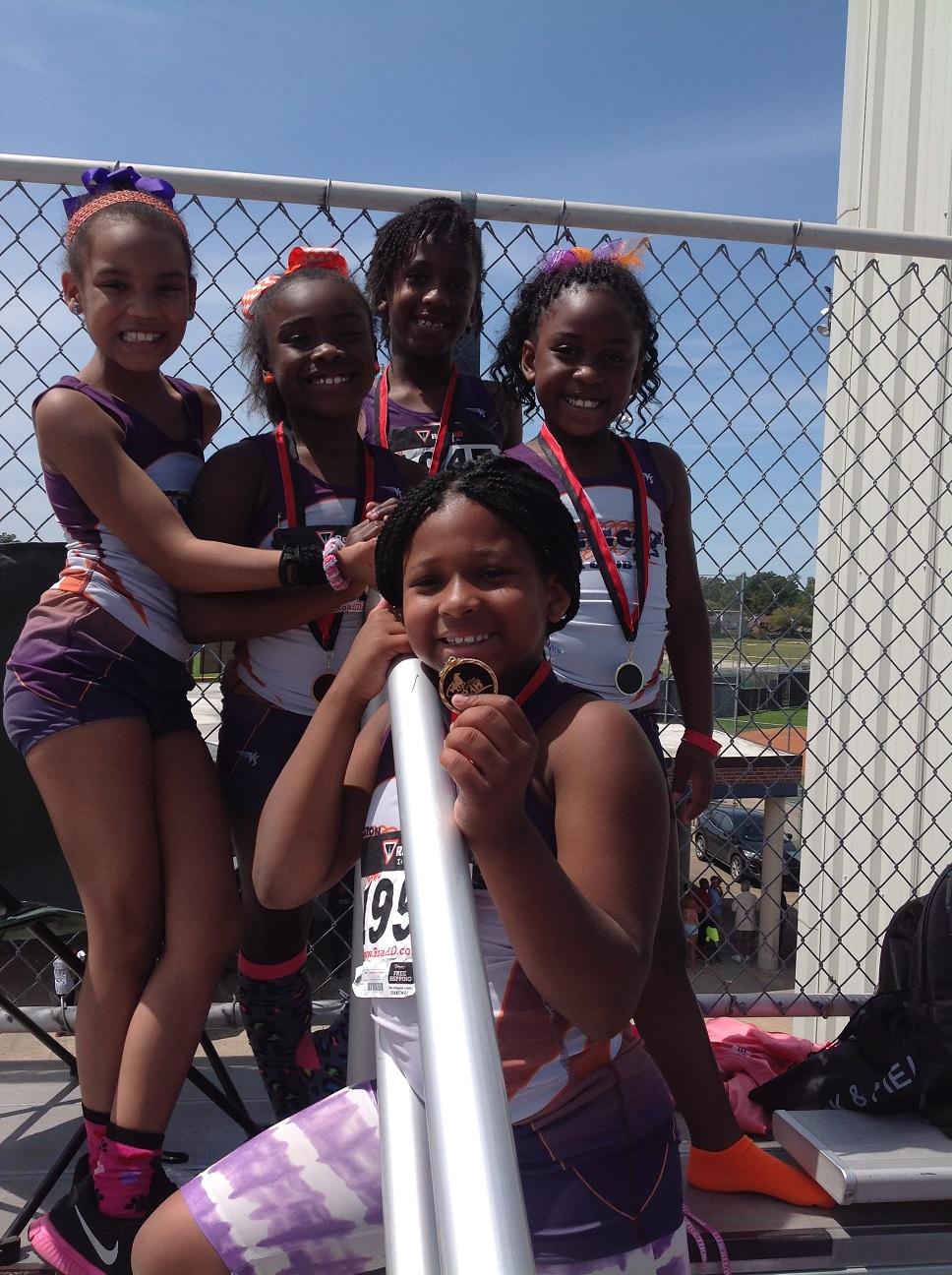 Primary Girls 4x100 relay