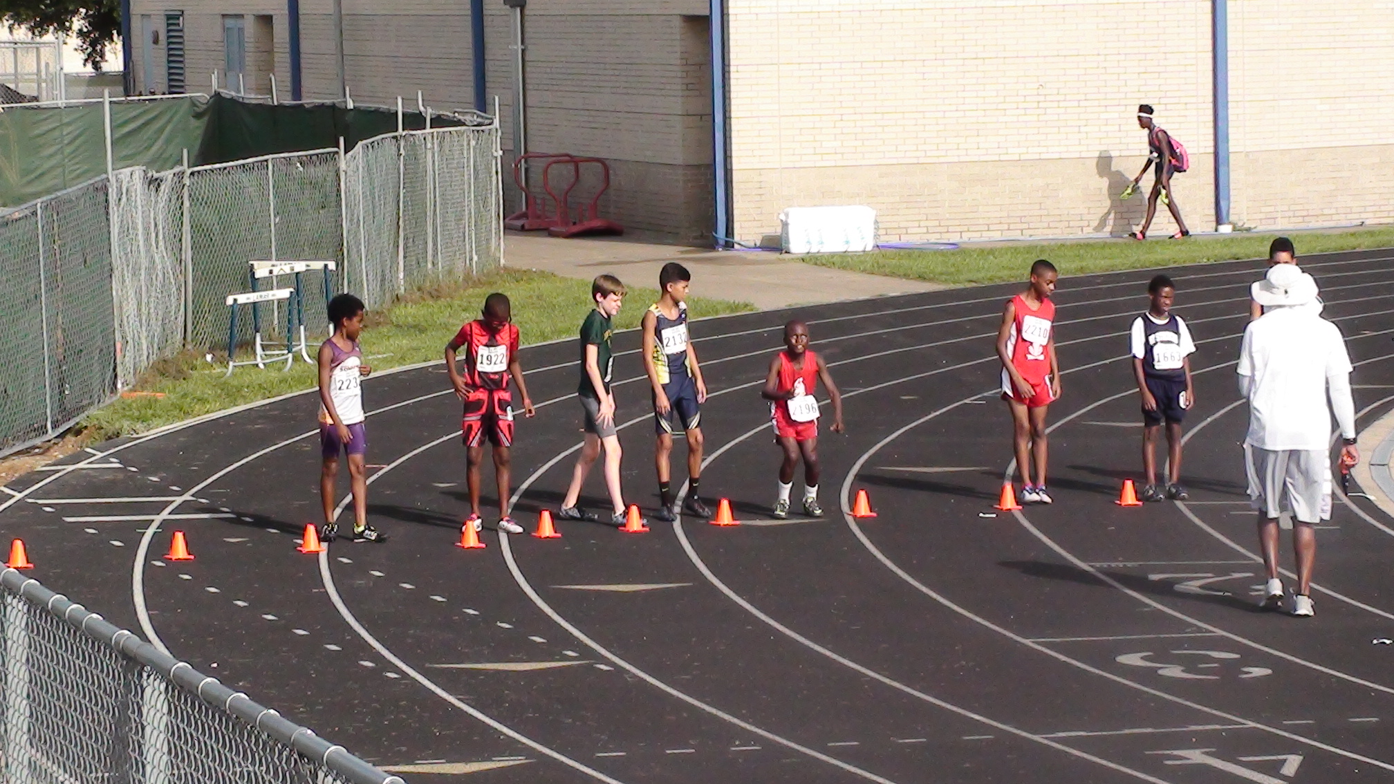 Davon lined up for the 1500m