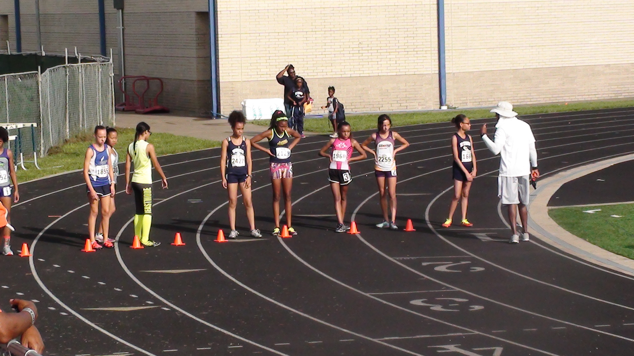 Michelle lined up for the 1500m
