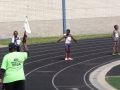 Damario on the 4x100 relay