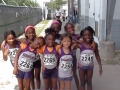 Both primary girls 4x100 teams