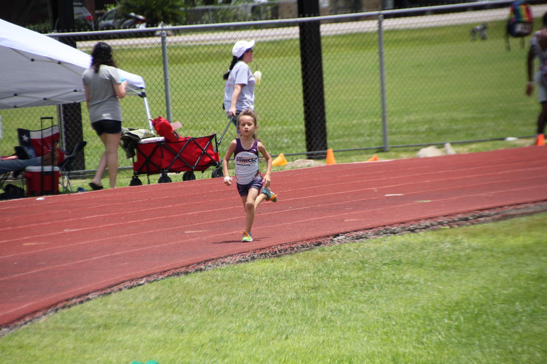 Angela running the 400m