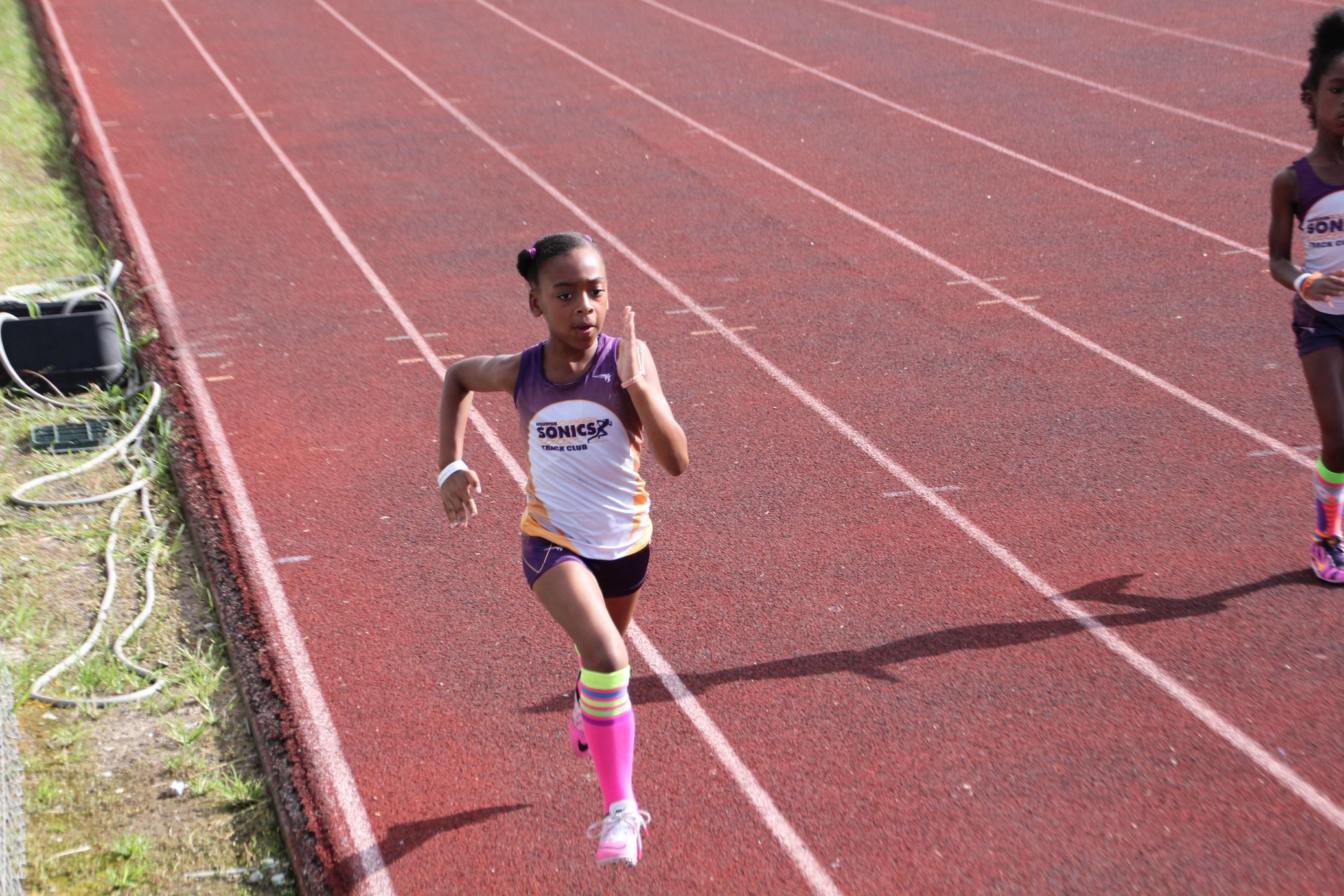 Hanna running the 100m
