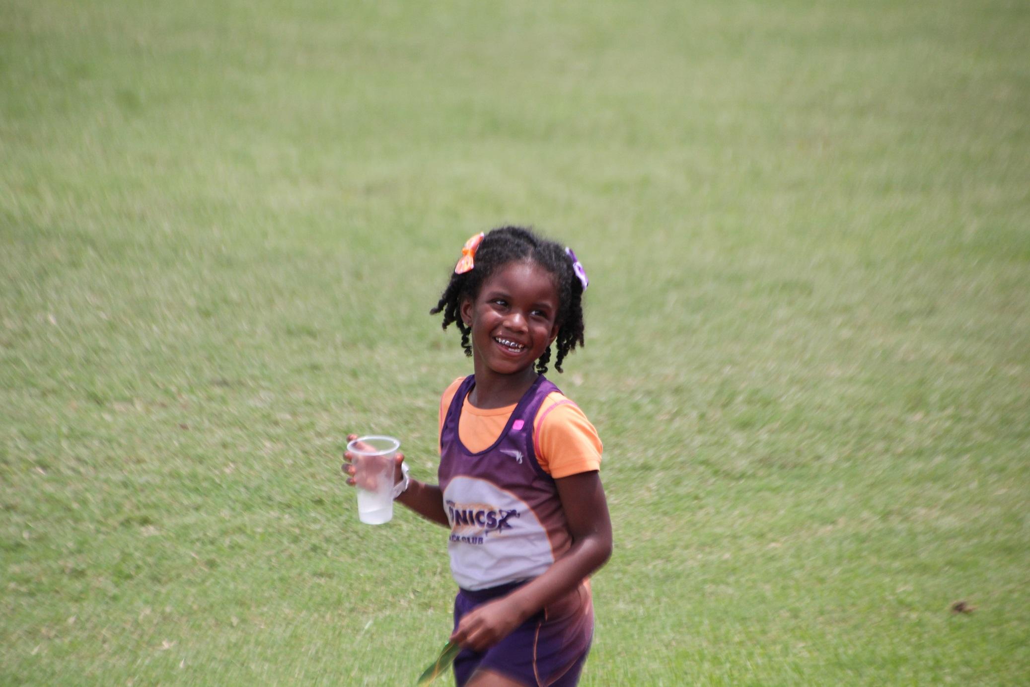 Navaeh flashing her big smile