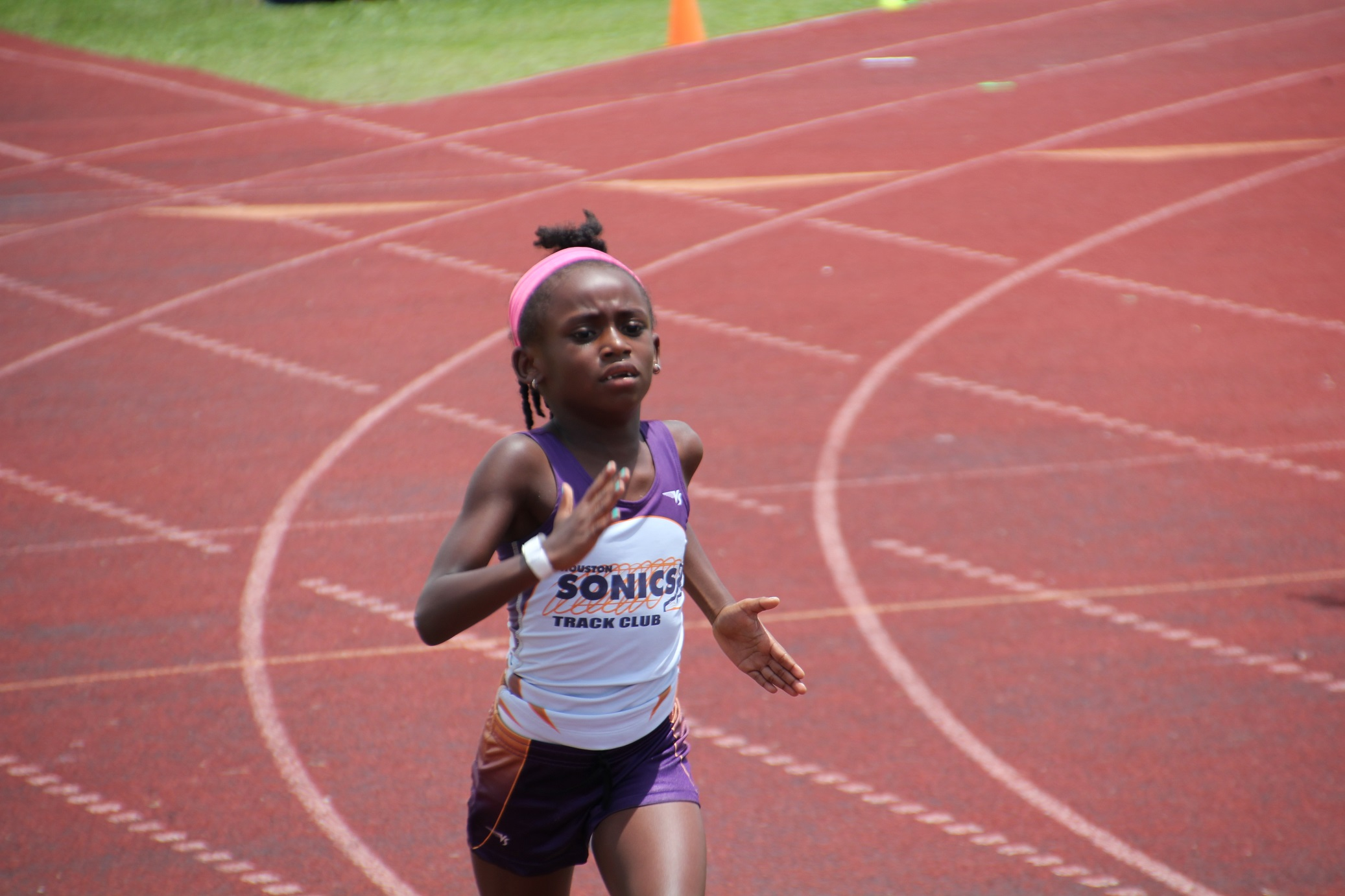 Ryann running the 400m