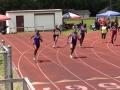 Alyssia running the 200m