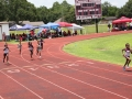 Ryann, Amelia, and Kylah running the 400m