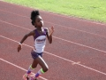 Tia running the 100m