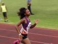 Shania running the 200m