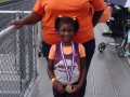 Naveah with her gold medal