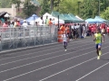 Arik running the 200m