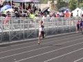 Jurnee running the 200m