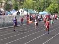 Tyra running the 200m