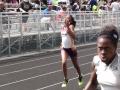Zoe running the 200m