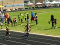 Julius running the 100
