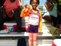 Nevaeh with her award