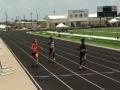 Hannah running the 200 final