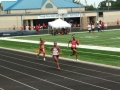 Regan in the 4x100 relay