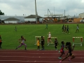 Jayla running the 200